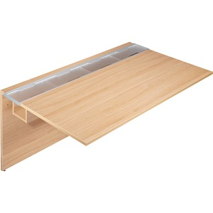 Lorell Concordia Series Latte Laminate Desk Ensemble LLR81913