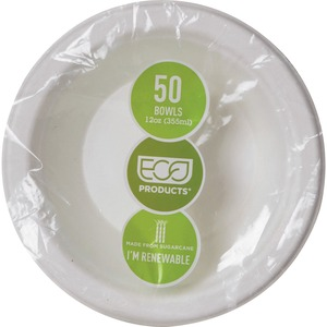 Eco-Products Sugarcane Fiber Deep Bowls ECOEPBL12PK