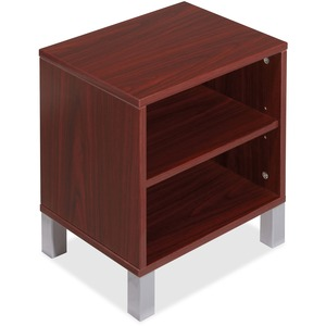 Lorell Concordia Series Mahogany Laminate Desk Ensemble LLR81930