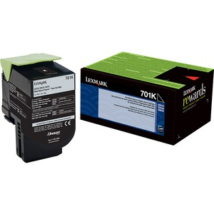 Lexmark 701K Black Return Program Toner Cartridge LEX70C10K0