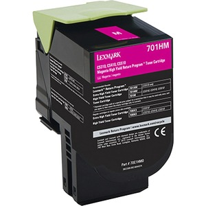 Lexmark 701HM Magenta High Yield Return Program Toner Cartridge LEX70C1HM0