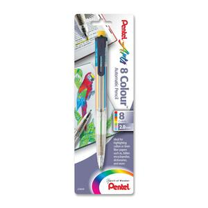 Pentel Arts 8 Color Lead Antimicrobial Pencil PENPH158BP