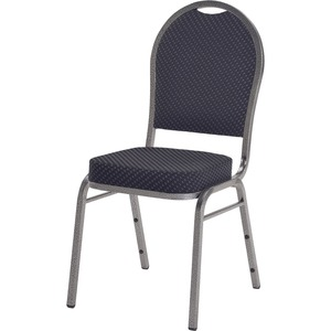 Lorell Upholstered Cushion Stacking Chairs LLR62517