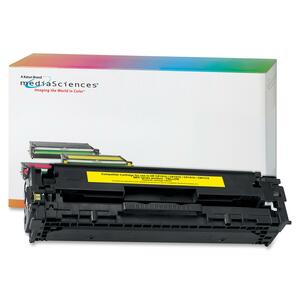 Media Sciences Toner Cartridge - Replacement for HP (128A) - Yellow MDA39828