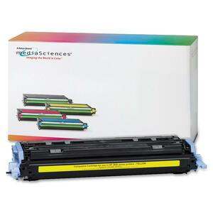 Media Sciences Toner Cartridge - Replacement for HP (124A) - Yellow MDA39832