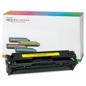 Media Sciences Toner Cartridge - Replacement for HP (125A) - Yellow MDA40931