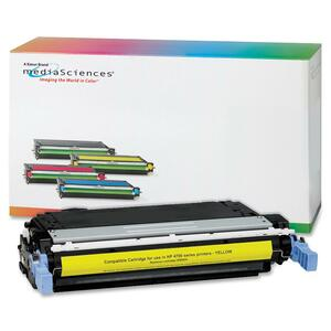 Media Sciences Toner Cartridge - Replacement for HP (643A) - Yellow MDA41007