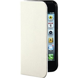 Verbatim Carrying Case (Folio) for iPhone 5/5S - Vanilla White VER98089