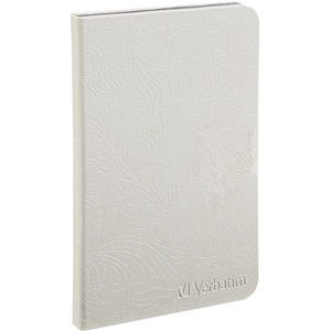 Verbatim Folio Case w/LED Light for Kindle (Pearl White) VER98080