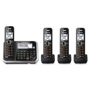 Panasonic KX-TG6844B DECT 6.0 1.90 GHz Cordless Phone - Black PANKXTG6844B