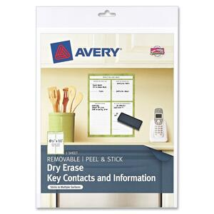 Avery While We Are Away Dry Erase Sheets AVE24385