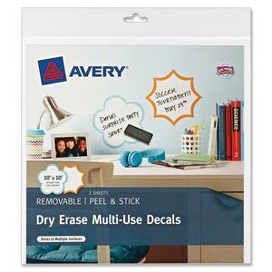 Avery Dry-Erase Multi-Use Decals AVE24397