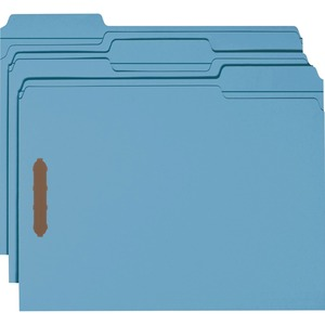Smead 12041 Blue 100% Recycled Colored Fastener File Folders SMD12041