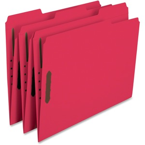 Smead 12741 Red 100% Recycled Colored Fastener File Folders SMD12741