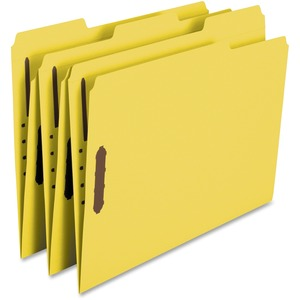 Smead 12941 Yellow 100% Recycled Colored Fastener File Folders SMD12941