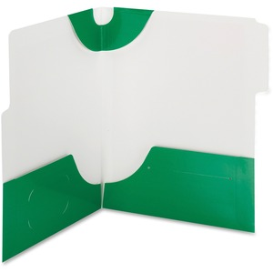 Smead 87965 Green SuperTab Two-Pocket File Folder SMD87965