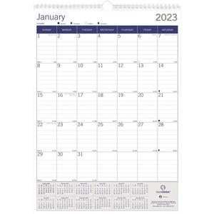 DuraGlobe Monthly Wall Calendar REDC171203