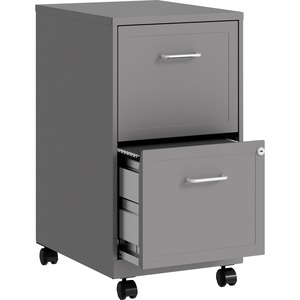 "Lorell SOHO 18"" 2-Drawer Mobile File Cabinet LLR16873"