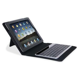 Compucessory Keyboard/Cover Case (Portfolio) for iPad - Black CCS50917