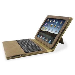 Compucessory Keyboard/Cover Case (Portfolio) for iPad - Tan CCS50918