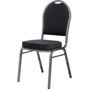 Lorell Upholstered Textured Fabric Stacking Chair LLR62525