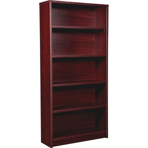 Lorell Prominence 79000 Series Mahogany 5-Shelf Bookcase LLR79051