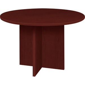 Lorell Prominence 79000 Series Mahogany Round Conference Table LLR79127