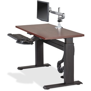 Lorell Height-adjustable Workstation Tabletop - Mahogany LLR81960