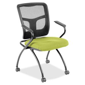 Lorell Mesh Back Fabric Seat Nesting Chair LLR8437409