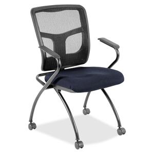 Lorell Mesh Back Fabric Seat Nesting Chair LLR8437410