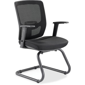 Lorell Variable-Resist Lumbar Guest Chair with Arms LLR84563