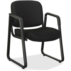 Lorell Black Fabric Guest Chair LLR84576