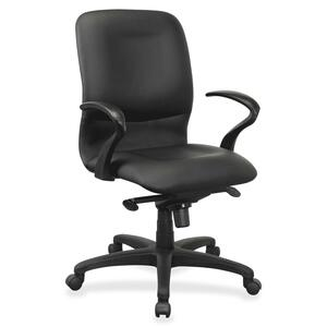 Lorell Executive Mid-Back Fabric Contour Chair LLR84580