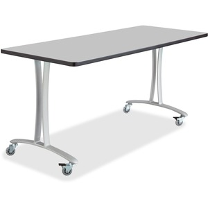 Safco Gray Rumba Training Table w/ T-legs/Casters SAF2094GRSL