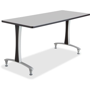 Safco Gray Rumba Training Table w T-legs/Glides SAF2095GRSL