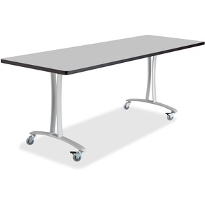 Safco Gray Rumba Training Table w/ T-legs/Casters SAF2096GRSL