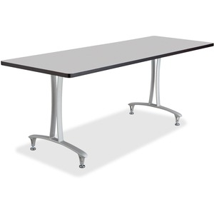 Safco Gray Rumba Training Table w T-legs/Glides SAF2097GRSL
