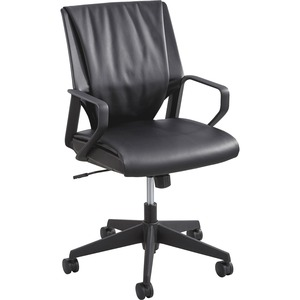 Safco Priya Leather Executive Mid-back Chair SAF5076BL