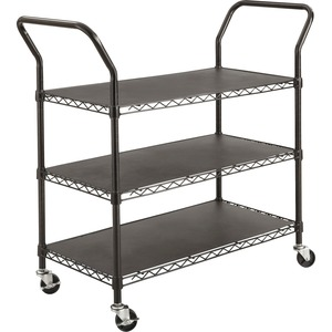 Safco 3-shelf Wire Utility Cart SAF5338BL