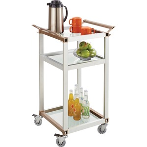Safco Small Aluminum Frame Refreshment Cart SAF8968SL