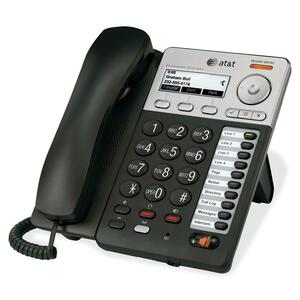 AT&T Syn248 SB35025 IP Phone - Wireless - Desktop, Wall Mountable - Silver, Black ATTSB35025