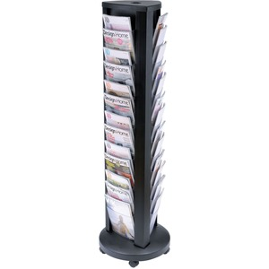 Alba Carousel Floor 39-slot Literature Display ABADDTOWER