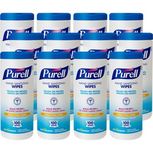 Purell Textured Sanitizing Wipes GOJ911112CT
