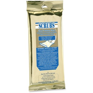 Scrubs Metal Polish Wipes ITW90218