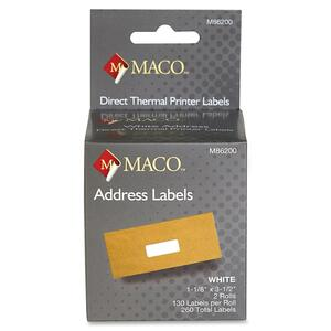 Maco Direct Thermal Printer Labels MACM86200