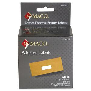 Maco Direct Thermal Printer Labels MACM86201