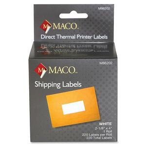 Maco Direct Thermal Printer Labels MACM86202