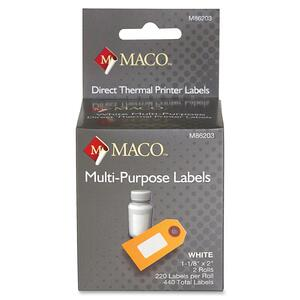 Maco Direct Thermal Printer Labels MACM86203