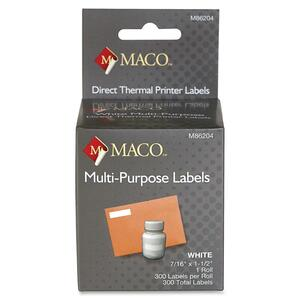Maco Direct Thermal Printer Labels MACM86204