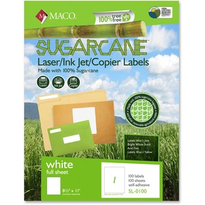 Maco Printable Sugarcane Mailing Label MACMSL0100